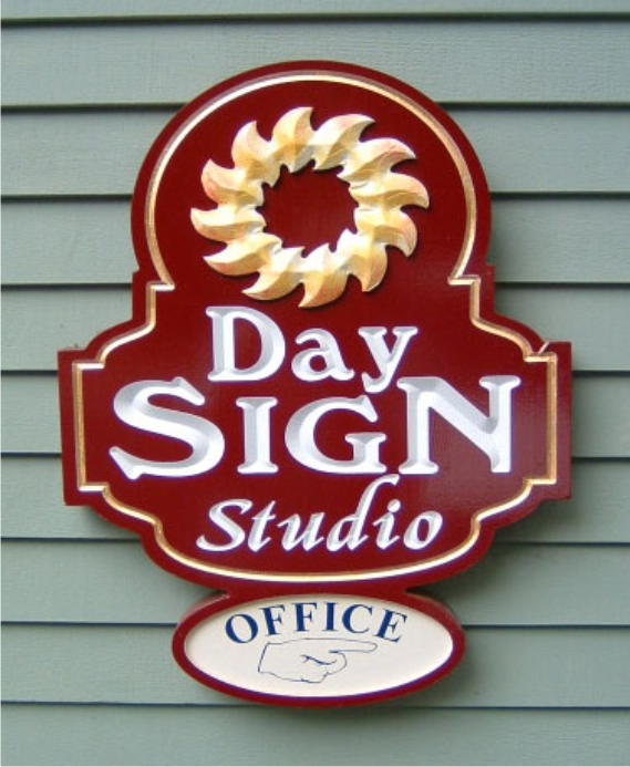 Day Sign Studio Carved Sign