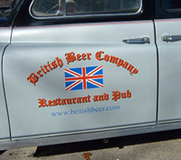 British Beer Company Truck Lettering