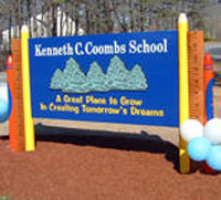 K.C. Coombs School Main Sign