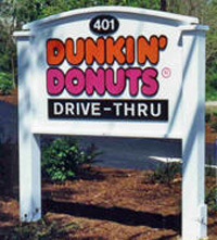 Dunkin' Donuts Carved Sign