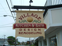 Village Kitchen & Bath  Vinyl Sign